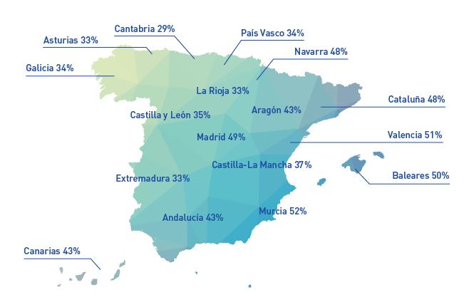 Mapa de las ciudades más seguras y más peligrosas de España. Blog Prosegur.
