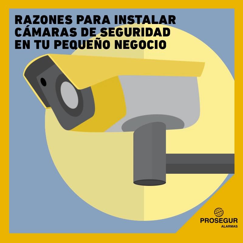 razones para instalar cámaras de seguridad en tu pequeño negocio - Blog Prosegur.