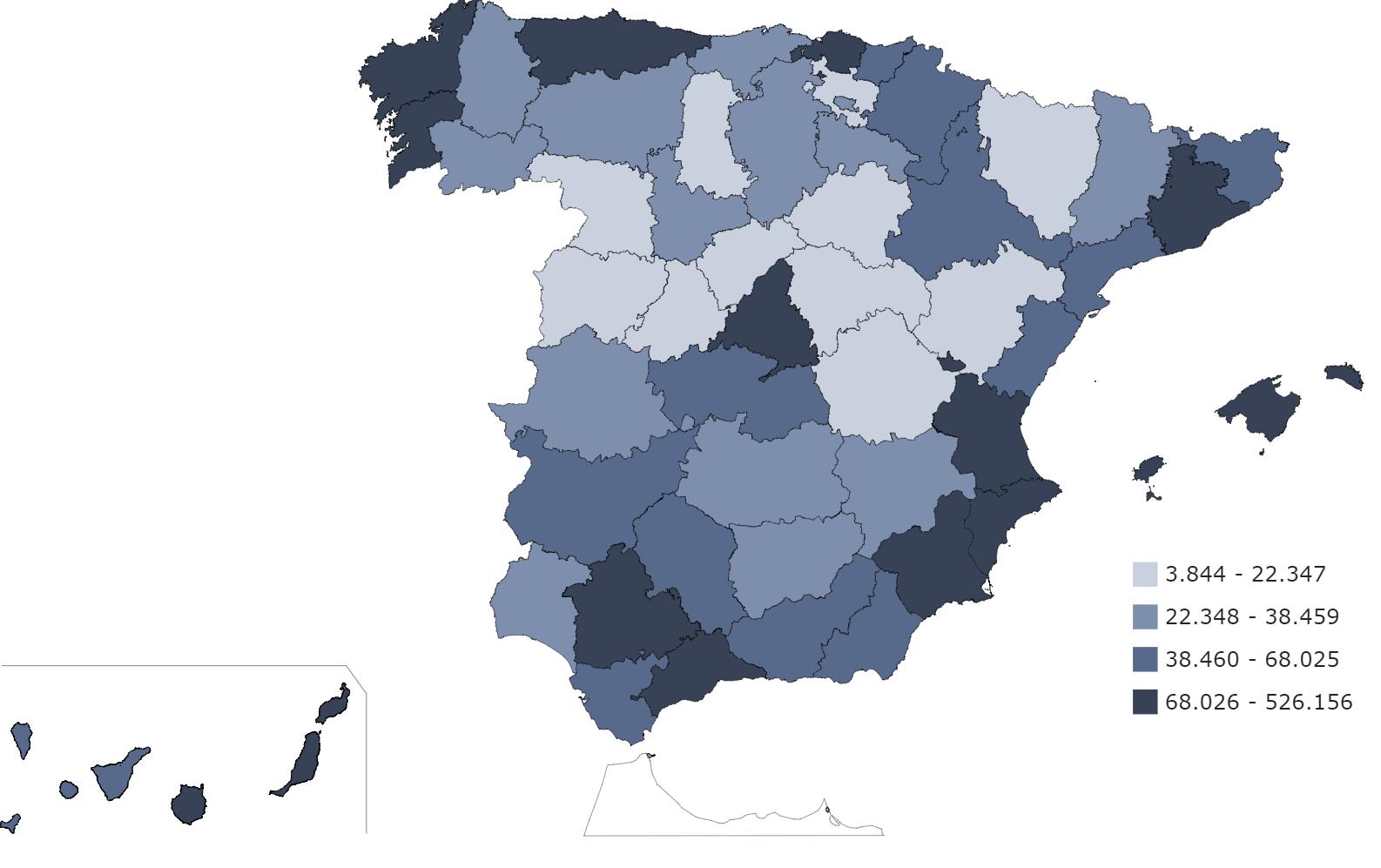 Ciudades más seguras de España para abrir un negocio - mapa de empresas activas. Blog Prosegur