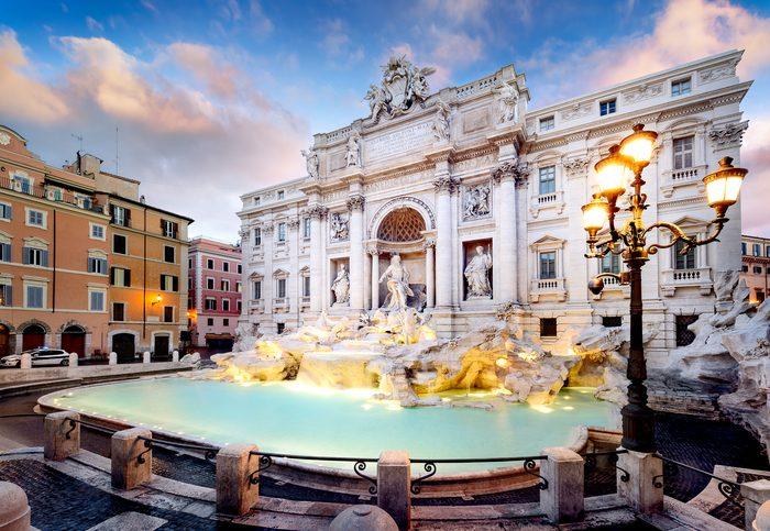 La Fontana di Trevi en Roma, una de las ciudades más peligrosas de Europa.