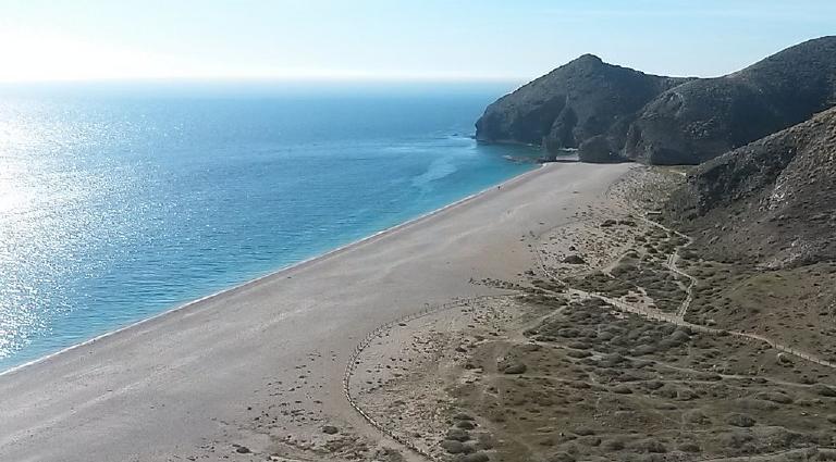 Playas más peligrosas de España: Playa de los muertos, Cabo de Gata-Nijar (Almería).