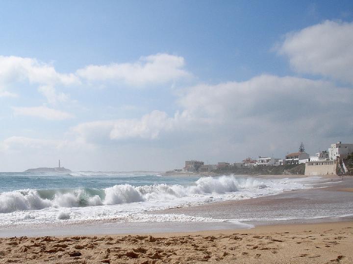 Playas más peligrosas de España: Playa del Faro de Trafalgar, Caños de Meca.